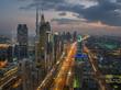 Night cityscape of Dubai, United Arab Emirates