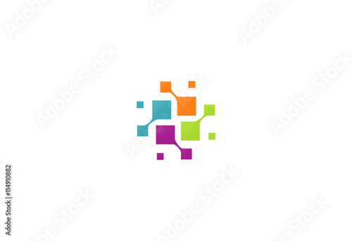 Fotografia  square connection technology logo