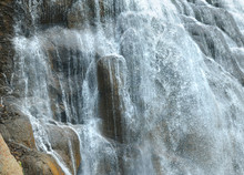 Closeup Of Gibbon Falls In Yel...