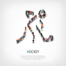 People Sports Hockey Vector