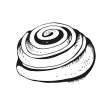 Cinnamon Bun Hand Drawn Illustration