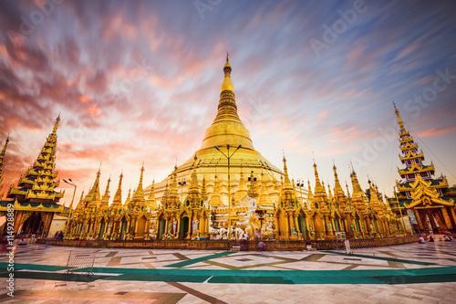 Wall Murals Temple Shwedagon Pagoda of Myanmar