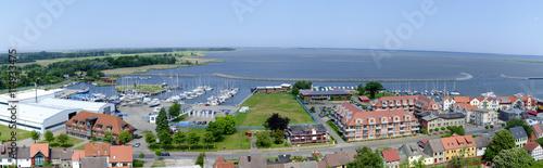 Fotografie, Obraz  Panorama des Hafens von Barth