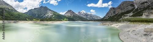 Deurstickers Dam Lago alpino