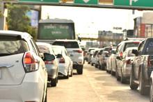Traffic Jams In Nakhonratchasima, Thailand.