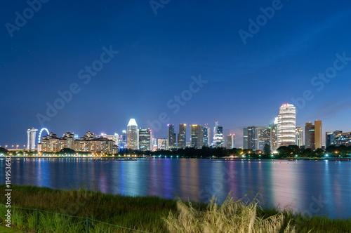 Fotografia  Singapore city at night