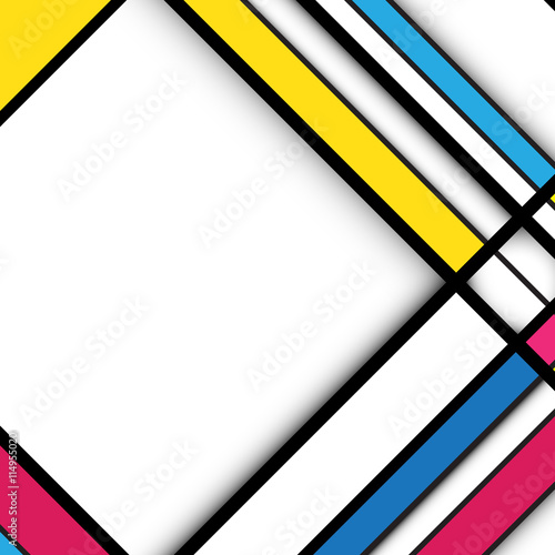 Valokuva  Abstract geometric background. Cubism style concept design