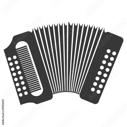 Accordion  music instrument icon design, vector illustration image Wallpaper Mural