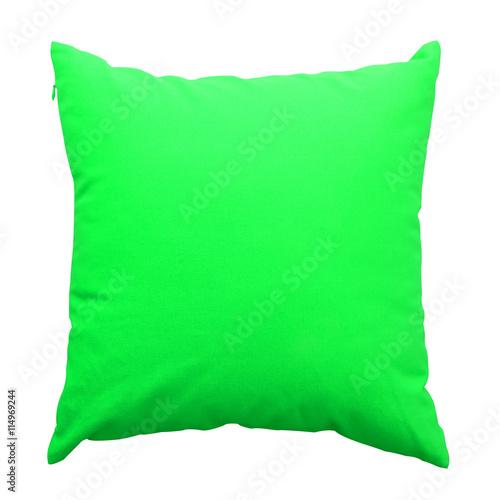 Leinwanddruck Bild - piyagoon : green  pillows isolated on white background
