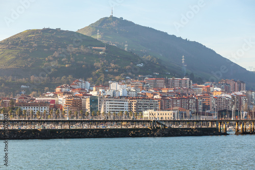 Foto auf Gartenposter Stadt am Wasser Portugalete, Spain, view from the suspension bridge