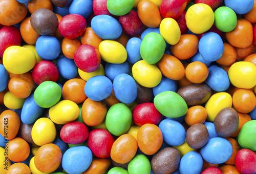 Foto op Aluminium Snoepjes Colourful Chocolate Coated Sweets