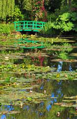Panel SzklanyGiverny, jardin d'eau au printemps