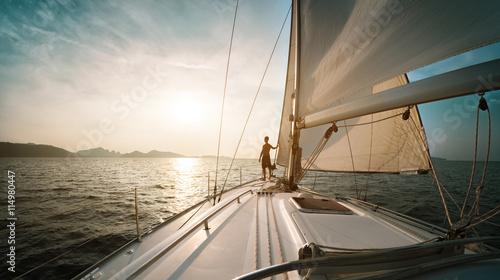Fotografía  Man on the yacht