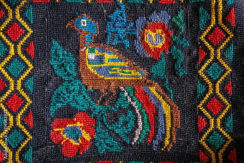 In de dag Oost Europa Romanian folk seamless pattern ornaments. Romanian traditional embroidery. Ethnic texture design