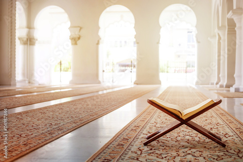 Fotografie, Obraz Quran - holy book of Islam in mosque