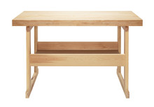 Isolated Wooden Workbench