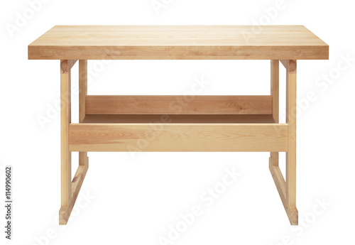 Obraz Isolated wooden workbench - fototapety do salonu