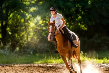 FototapetaGirl riding a horse