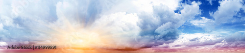 Canvas Prints Heaven Colorful sky and clouds