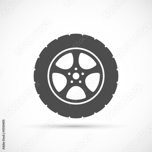 Fotomural  Car wheel icon
