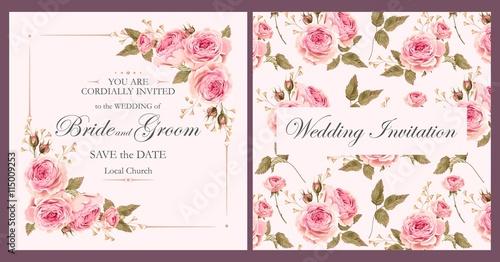 Fotografia  Vintage wedding invitation