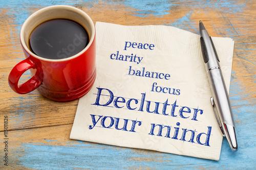Photo Declutter your mind advice