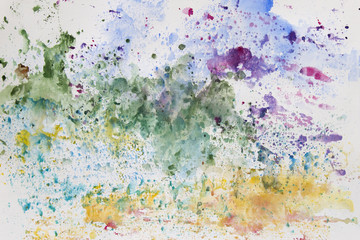 FototapetaAbstract watercolor art hand paint. Background