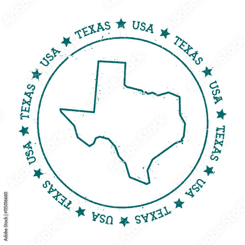 U S State Map Vector.Texas Vector Map Retro Vintage Insignia With Us State Map