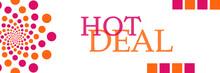 Hot Deal Pink Orange Dots Horizontal