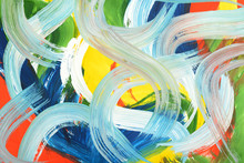 Abstract Art Gouache Painting.