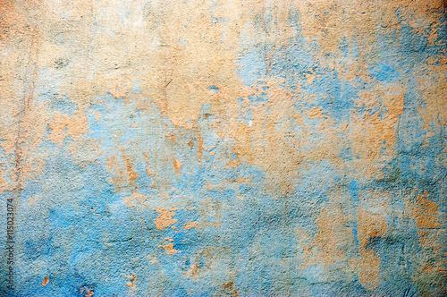 beton-stary-niebieski-blekitny