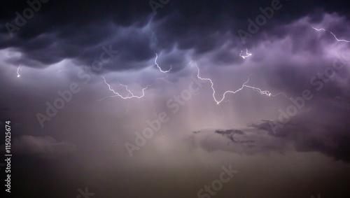 Fototapety, obrazy: Cloudscape with thunder bolt