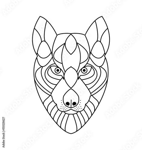 Wolf Head Vector For Coloring Book Testa Di Lupo Vettoriale Da