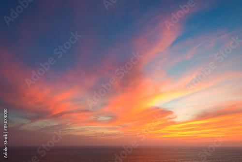 beautiful seascape and twilight sky Poster Mural XXL