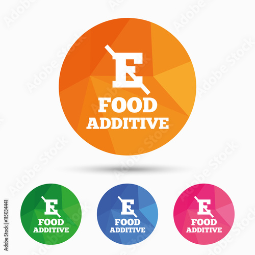 Fotografie, Obraz  Food additive sign icon. Without E symbol.