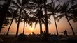 Time Lapse of sunset on the luxury Surin beach on Phuket, Thailand