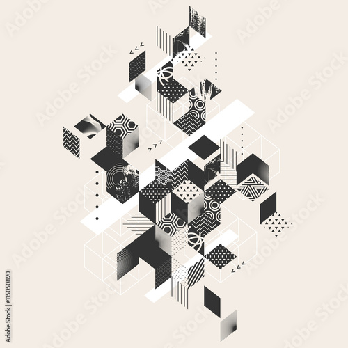 Abstract modern geometric background - 115050890