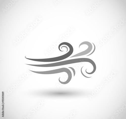 Fotografia  Wind icon vector