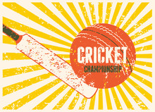 Cricket Typographical Vintage ...