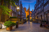 Fototapeta  - Beautiful architecture of Mariacka (St. Mary) street in Gdansk a