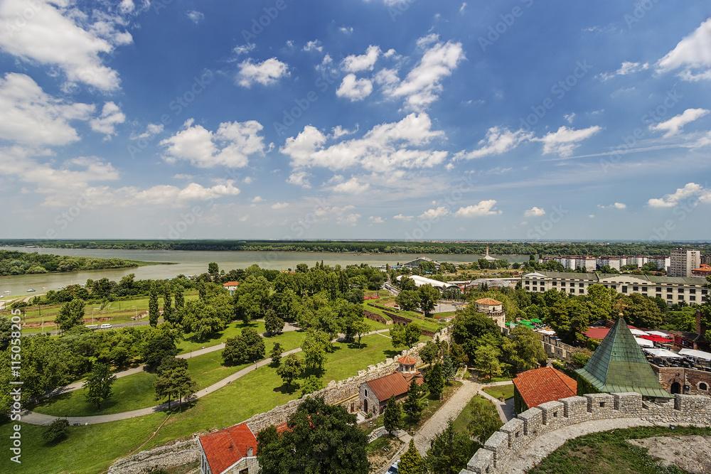 Fototapeta Belgrade fortress and panorama view - obraz na płótnie