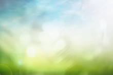 World Environment Day Concept: Bokeh Light And Abstract Blurred Green Nature Background
