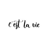 C'est la vie. French phrase means that's life. Brush lettering quote for  fashion clothes and cards. - 115061202