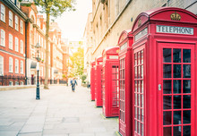 Red Telephone Boxes In UK, London