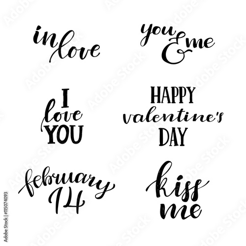 I Love You Hand Lettering Vintage Quotes About Modern Cal