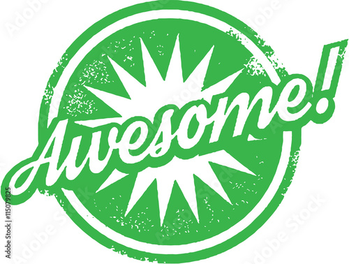 Photo Awesome Work Stamp