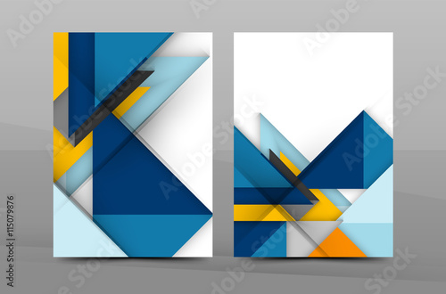 Fototapety, obrazy: Colorful geometric A4 business print template