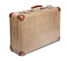 Old Vintage Suitcase Isolated