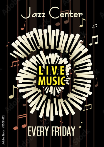 Jazz Live Music Festival Poster Background Template Buy This