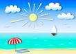 colored illustration summer seascape. application effect